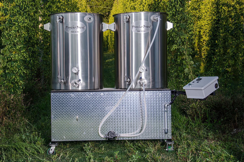 Psycho 100 2.5bbl 2 Burner Pilot Brewing System-0