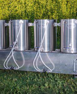 100 5 Bbl 4 Burner Pilot Beer Brewing Systems Mash