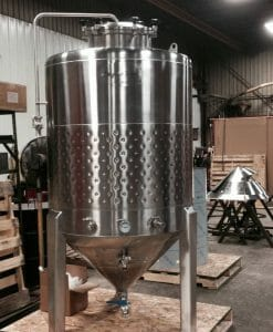 10 bbl Conical jacketed Fermenter-0