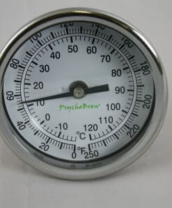 "Thermometer 0°-250°F 2.5"" Length Rear Mount-0"