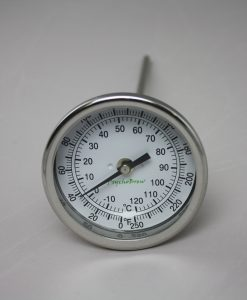 "Thermometer 0°-250°F 9"" Length Rear Mount-0"