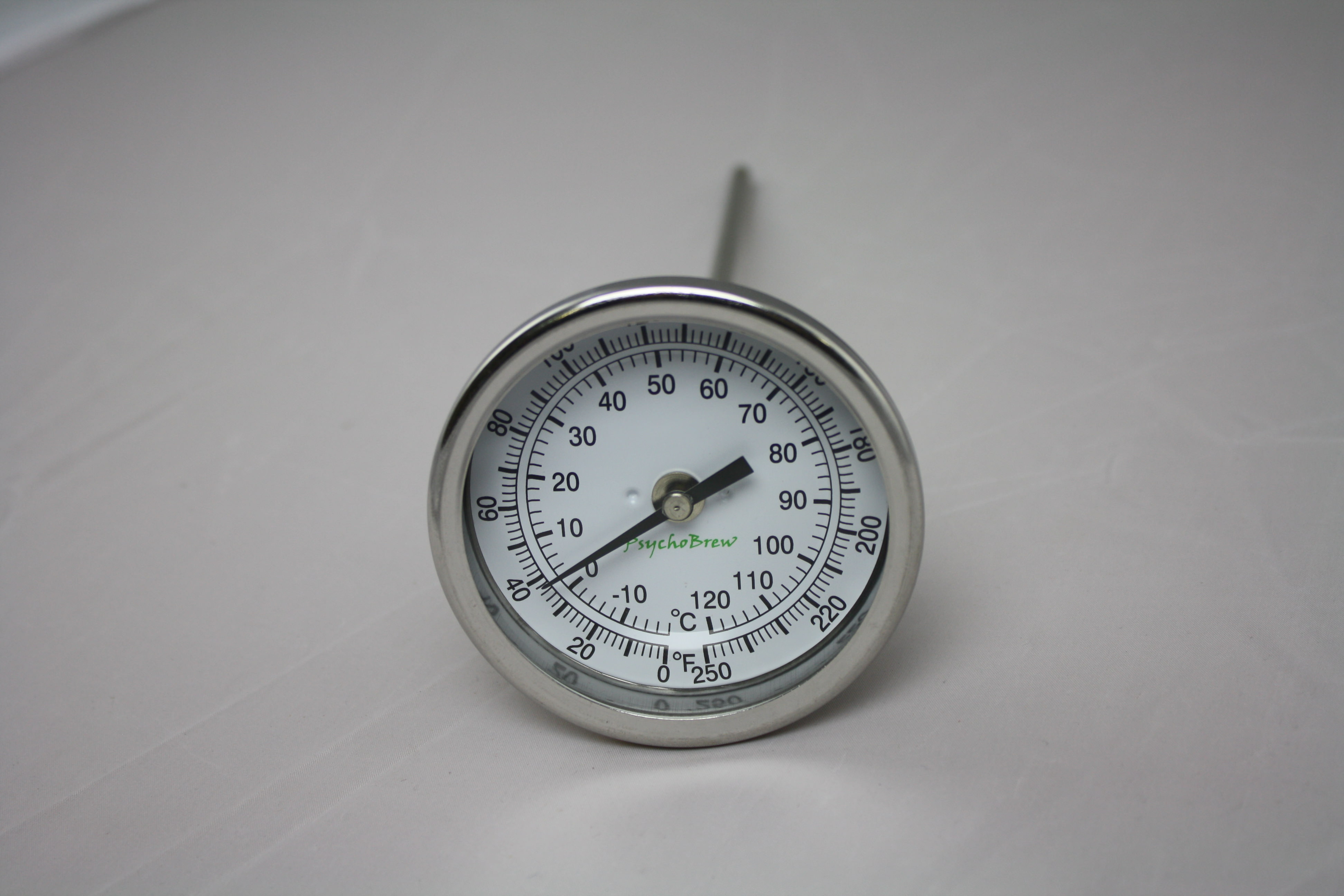 """Thermometer 0°-250°F 9"""" Length Rear Mount-0"""