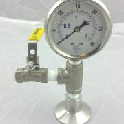 Pressure Gauge 0-30 PSI Bottom Mount -0