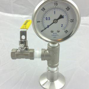 Pressure Gauge 0-30 PSI Bottom Mount -0
