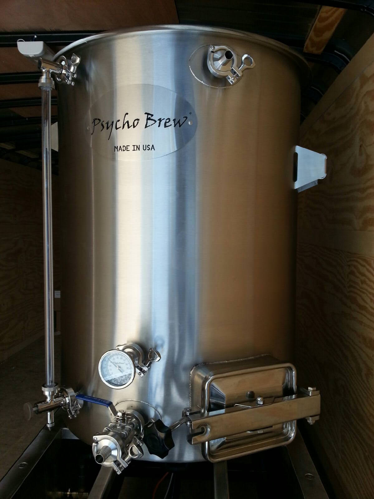 100 Gallon Psycho Brew Kettle W/Manway-0