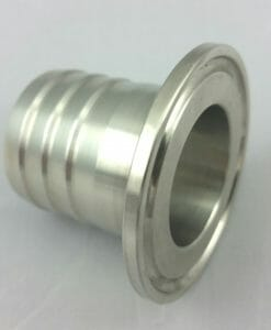 """2"""" TC-2"""" Rubber Hose Barb Stainless Steel SS304-0"""